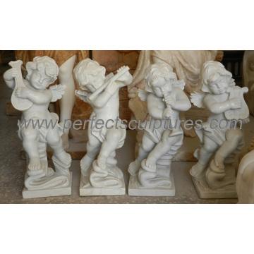 Tallando la estatua de la estatua de la querube de la piedra pequeña escultura de mármol del bebé (SY-X1064)