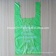 Earth Friendly Compostable T-Shirt Bag