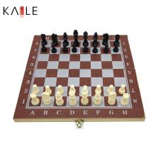 3 em 1 conjunto de jogo de xadrez de madeira Fabricante