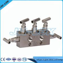 Manifolds de 5 vias de alto desempenho, cinco válvulas para transmissor de pressão