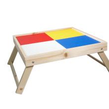 Mesa de madera GIBBON legos, mesa de bloques de construcción, mesa artesanal y mesa sensorial con mesa de madera legos de almacenamiento