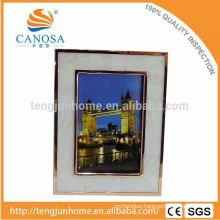 Eco Friendly Freshwater Shell Frame Photo with Golden Edge