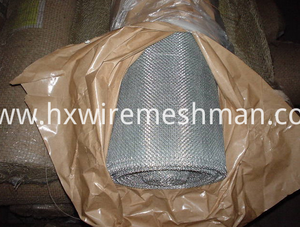 galvanized window screen packing