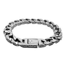 Vintage Style rétro en acier inoxydable Bijoux Hommes Chaîne Bracelets Argent