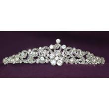New Designed Custom Crystal Crown Wedding Tiara For Bridal