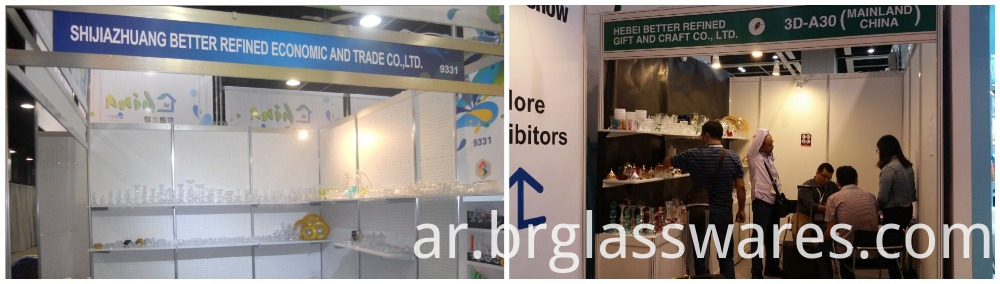 trade show of Glass Guitar Shaped Decorative glassware
