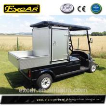 Carrinho de golfe elétrico de preços de gabinete com capa de chuva