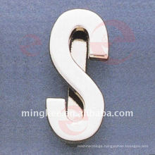 """Letter-""""S"""" bag's Metal Accessories Hardware (O34-672A-S)"""