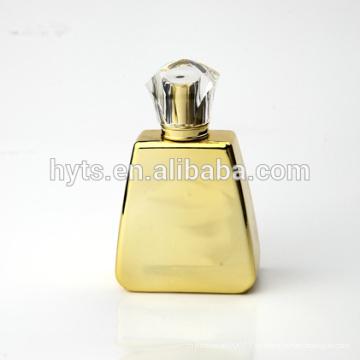 Botella de perfume de oro de cristal 100ml de lujo