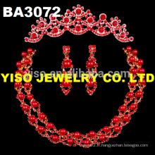 Ensemble de bijoux de mariage élégant