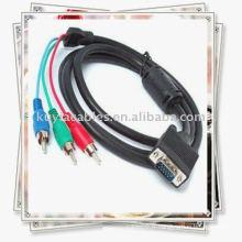 NOUVEAU Câble de composant VGA à 3 RCA pour PC RGB HDTV LCD