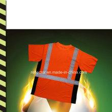 2016reflective Safety T-Shirt Оптовая продажа Бегущий тройник Сияющий бег
