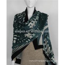 mercerized wool yarn- dyed scarves shawl stole
