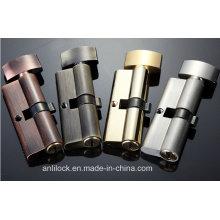 Cerradura del cilindro de latón, cerradura del cilindro de la puerta, cerradura del cilindro del botón Al-60-70-80-90