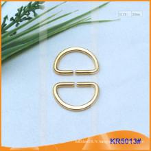 Boucles en métal de taille intérieure 20mm, régulateur de métal, anneau en D en métal KR5057