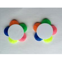 Flor em forma de 5 cores em uma caneta de presente de marcador de marca-texto