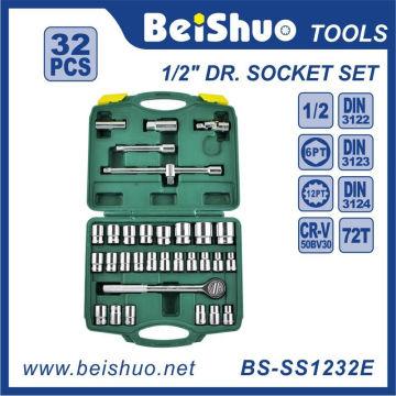 32 PCS 1 / 2''Dr. Набор хром-ванадиевых ключей с храповым механизмом