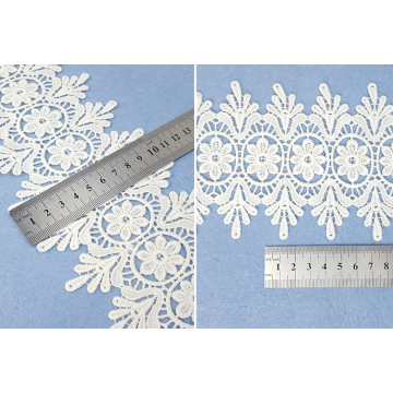 Embroidery cotton lace polyester flower