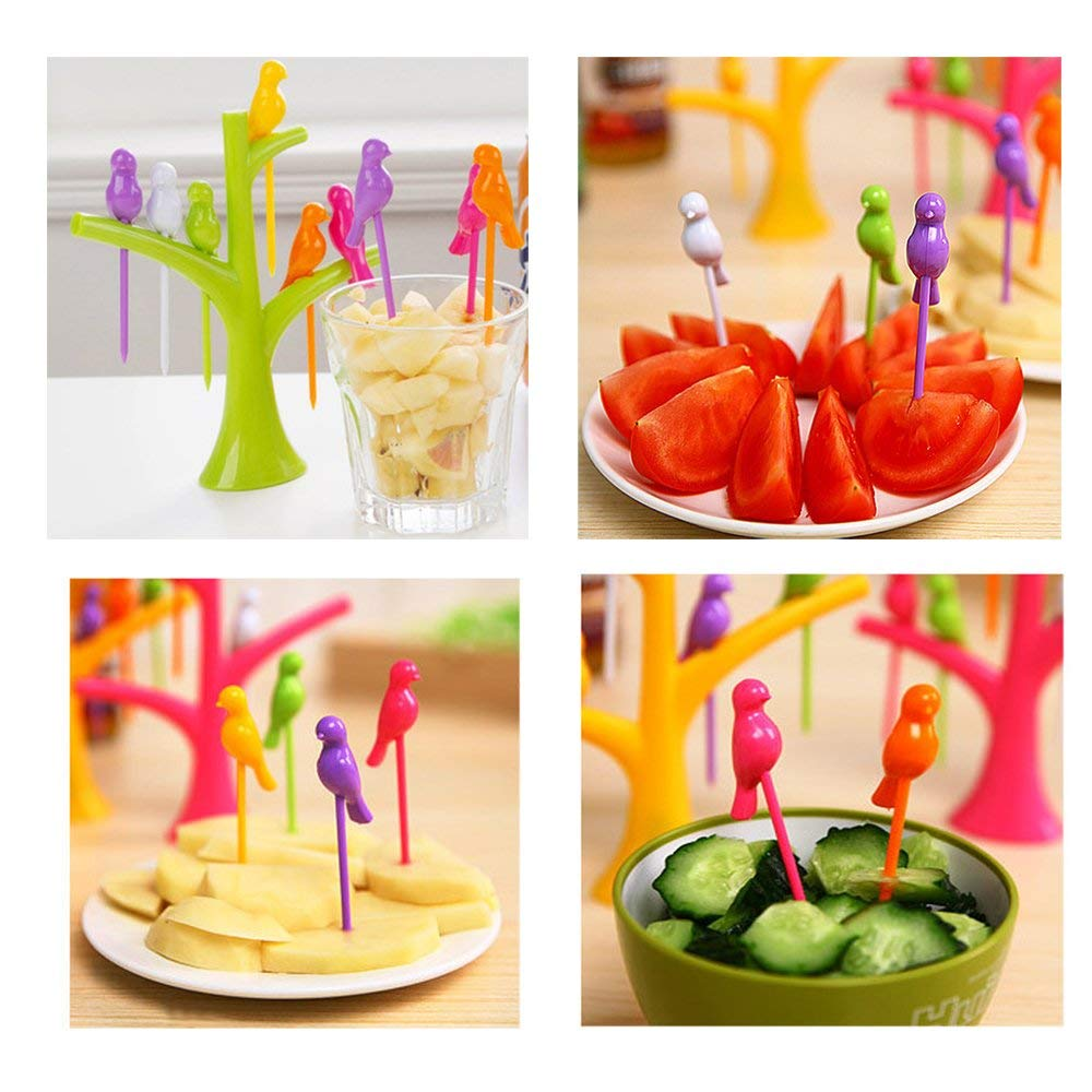 Birds Tree Cocktail Fruit Forks Knife Peeler Set product