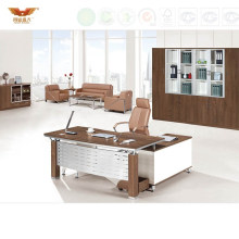 Modern Executive Desk with Iron Back Board (HY-JT07)
