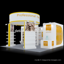Detian offre 20x20ft stands d'exposition de conception de stand de salon portable