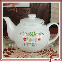 Tetera de cerámica con diseño de Navidad