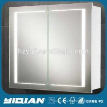 MDF светодиодный зеркальный шкаф, современный дизайн ПВХ ванной тщеславие