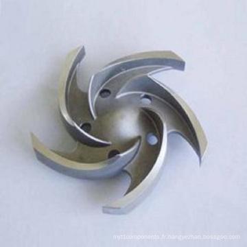 Roue à aubes de précision de moulage de précision (acier inoxydable)