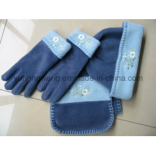Hot Selling Winter Warm Knitting Lady Polar Fleece Set