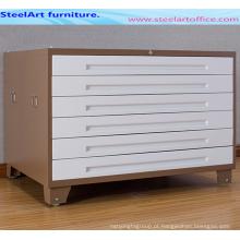 Gabinete de arquivo de mapa de escritório de aço completo escolher tamanho A0-A1 para o desenho de arquivo armário de mapa de armazenamento