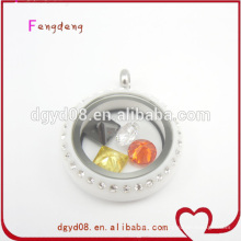 Amazing white color round cheap lockets