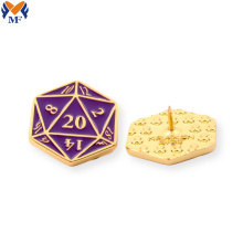 Gift metal lapel pin for sport activity