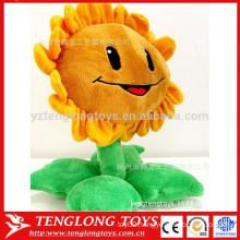 plush sunflower smile face sun flower toy for girl friend
