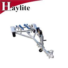 Steel rubber roller boat trailer frame