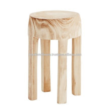 Solid Mango wood Round Multipurpose Stool