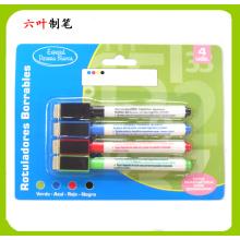 Prateleira de 5PCS com placa de quadro branco com Bush e Magnetic, Dry Erase Marker Pen