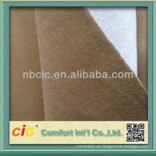 Terciopelo de poliéster cepillado vinculación de tela para el sofá y Auto y coche