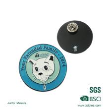 Customized Enamel Pet Logo Lapel Pin with Laser Website