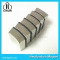 Nickel Coating Custom Arc Shape N52 Super Strong Neodymium DC Motor Magnet