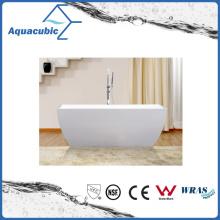 Bathroom Square Acrylic Free-Standing Bathtub (AB1515W)