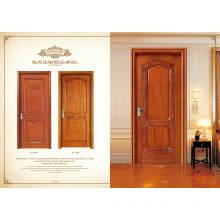 Modern Carved Solid Wood Door Exterior Fire Door