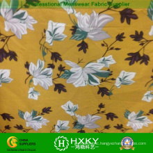 Yellow Color Floral Printing Fabric for Top Clothes