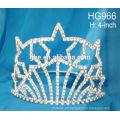 Rhinestone Schönheit Krone Kopfschmuck Geburtstag der Braut Kopfschmuck Festival Sternen Krone
