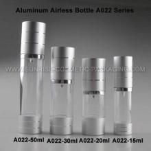 20ml 30ml 50ml Alu. Flacon pompe airless avec Base argent