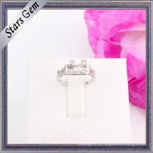 Jóias de prata esterlina elegante graciosa brilhante da forma
