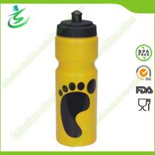 750ml Botella plástica de los deportes / botella de agua plásticas simples del apretón
