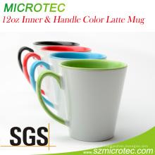 A caneca de Inner & Handle Latte da cor de 12oz, classifica a, o SGS de Mt-Lm012h & o FDA aprovaram