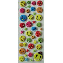 3D Smile face sticker
