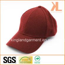 Polyester & Wolle Qualität Warm Plain Red / Burgunder Baseballmütze