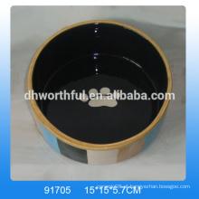 Atacado barata cerâmica pet prato está em alta qualidade